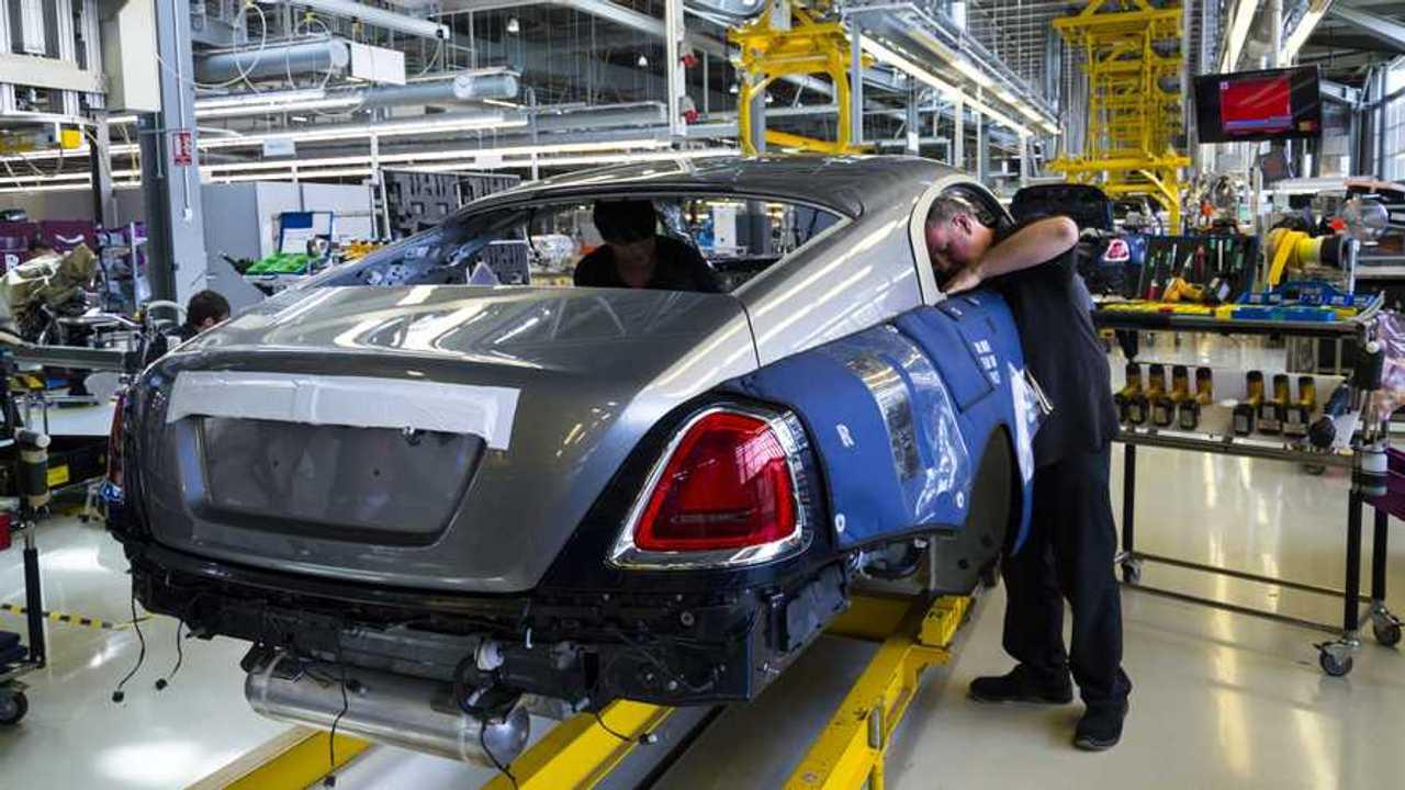 Rolls-Royce car production in Goodwood factory in Westhampnett UK
