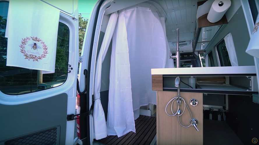 60-Year-Old Man Builds Incredible Camper Van With Giant Shower