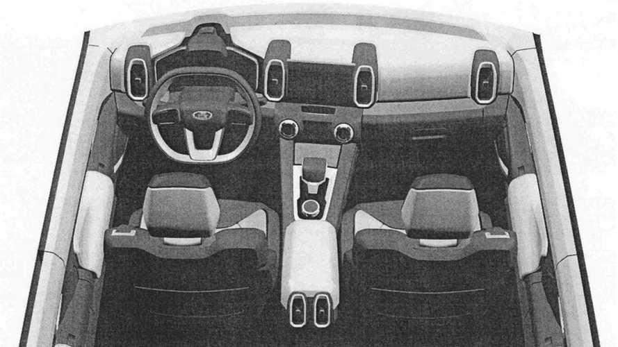 Патентные изображения интерьера концепта Lada Vision 4x4