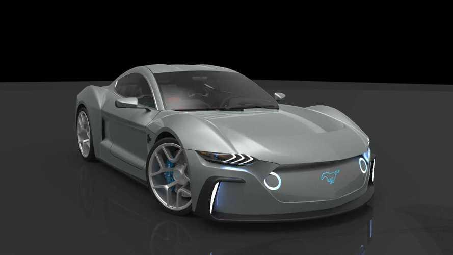 Renders de un Mustang GTE eléctrico.