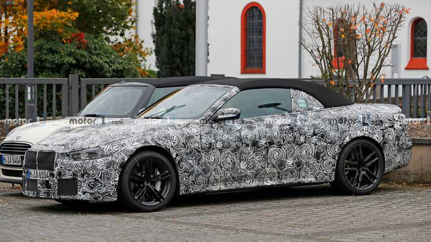 2021 BMW M4 Convertible spied up close and personal