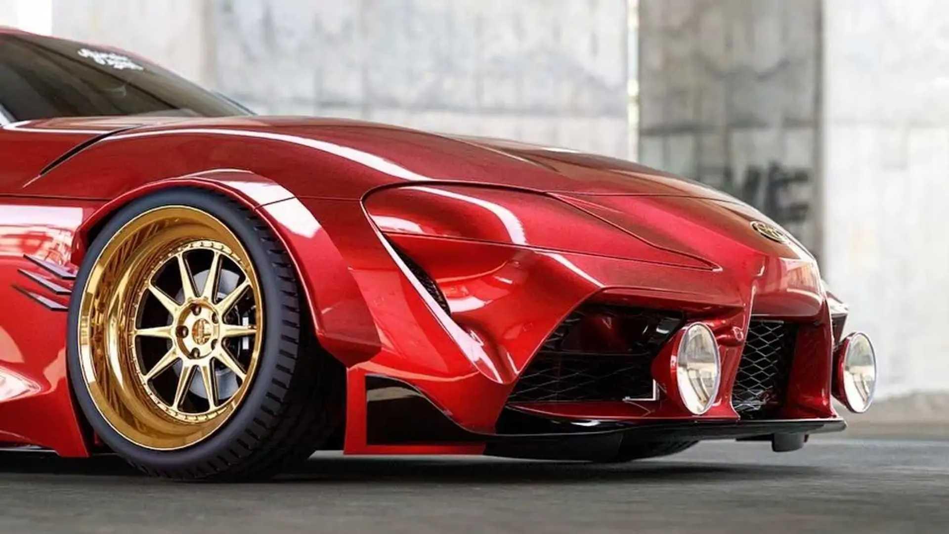 Widebody Toyota Supra rendering