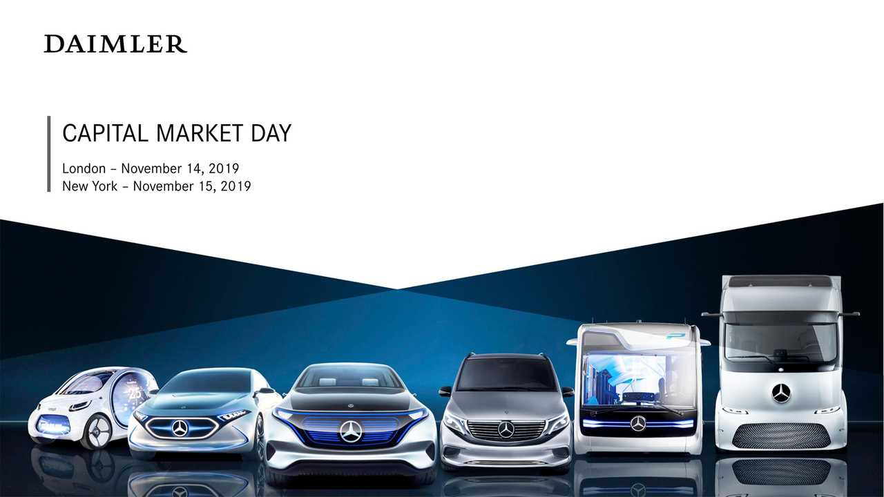 Daimler Capital Market Day 2019