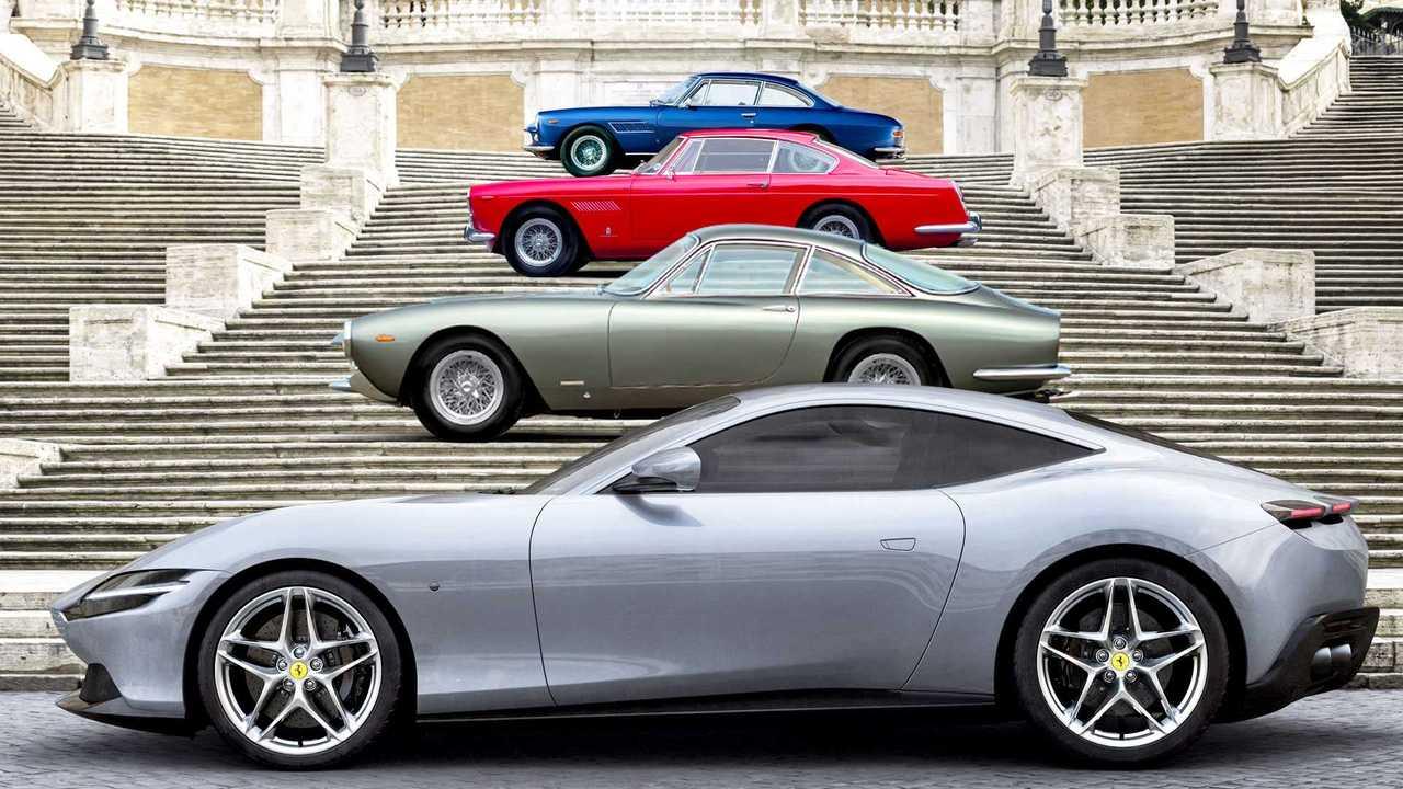 Ferrari Roma e le antenate della Dolce Vita
