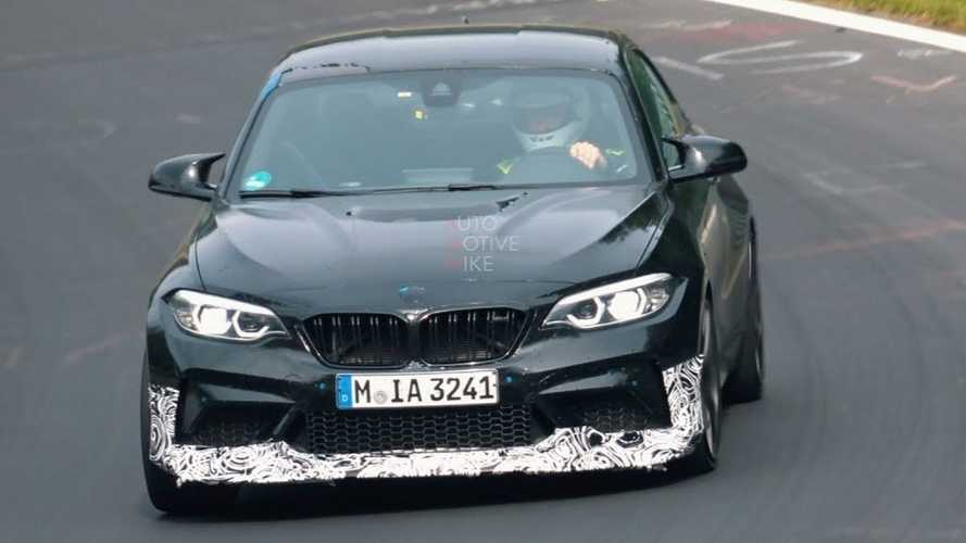 BMW M2 CS spied looking like a fun track toy at the Nürburgring
