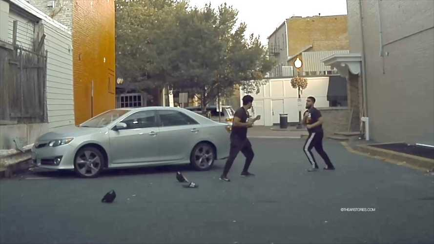 Watch Wild And Crazy Fist Fight Caught On Camera By Tesla