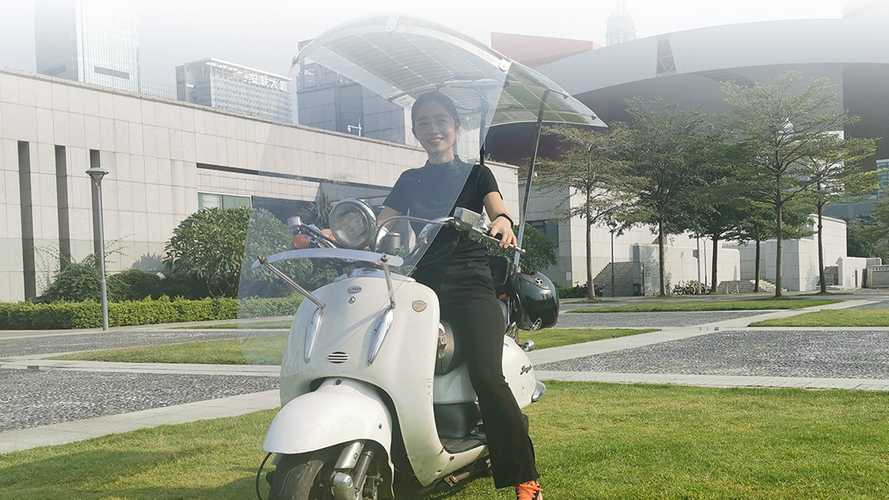 Would You Ride With This Solar Canopy Over Your Electric Scooter?