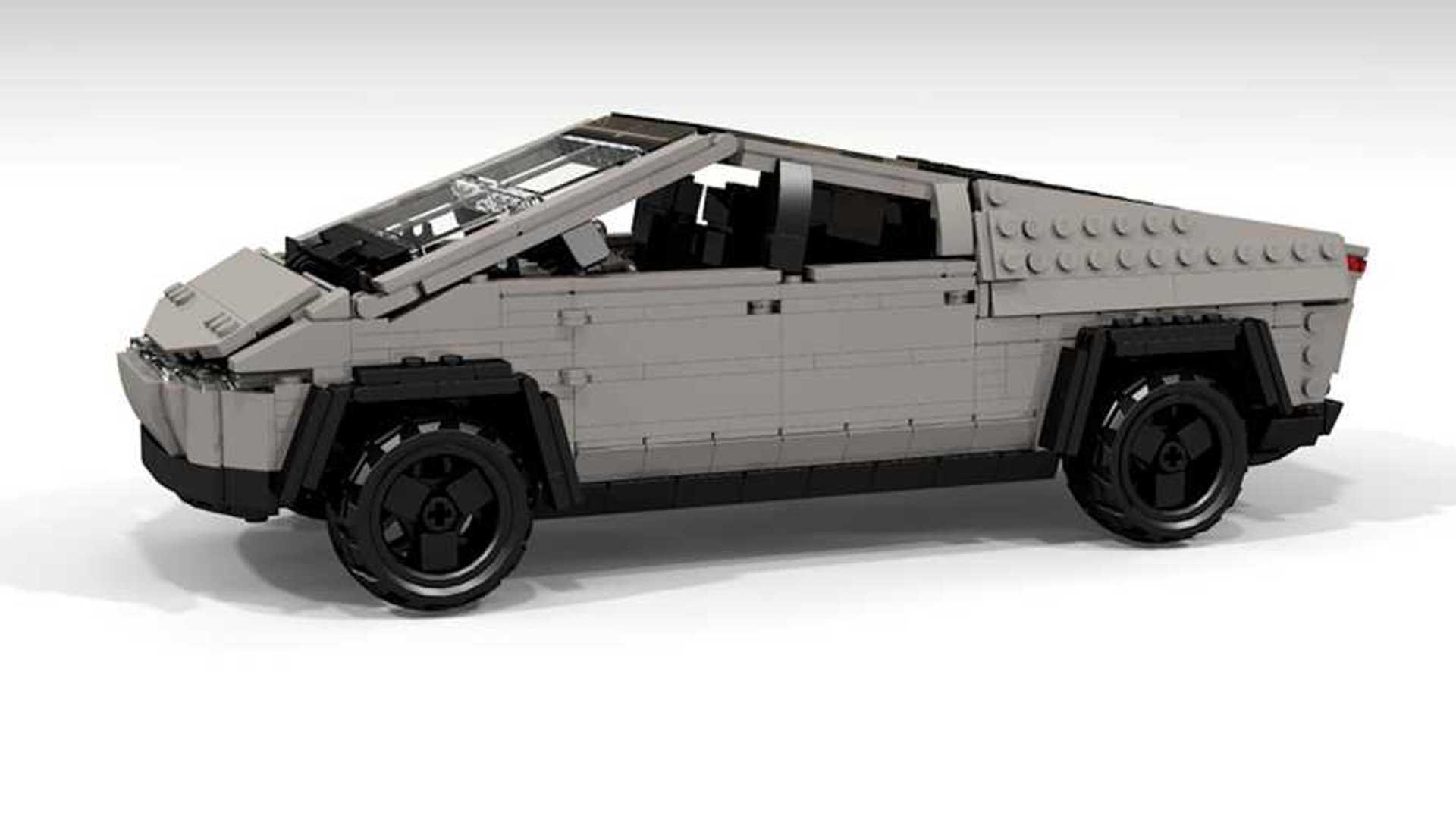 Tesla Cybertruck aus Lego zeigt das Naheliegende