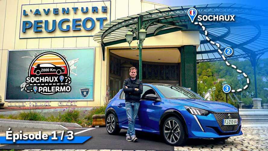 2000 km en Peugeot 208 - De Sochaux à Rome (1/3)