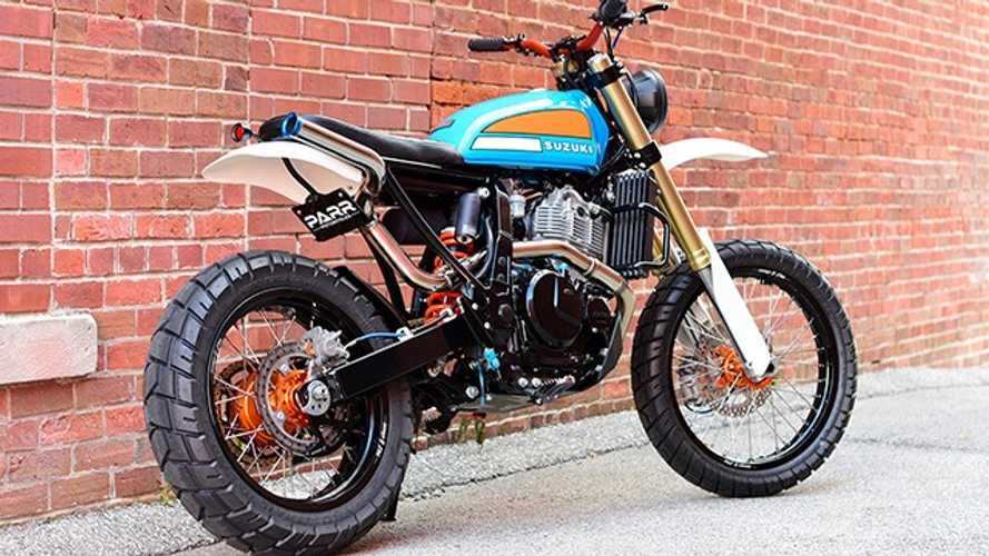 This DR650 Custom Scrambled All The Best Eras