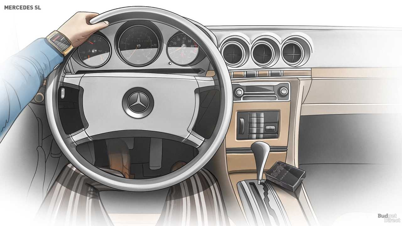 R107 SL interior 1971-1989