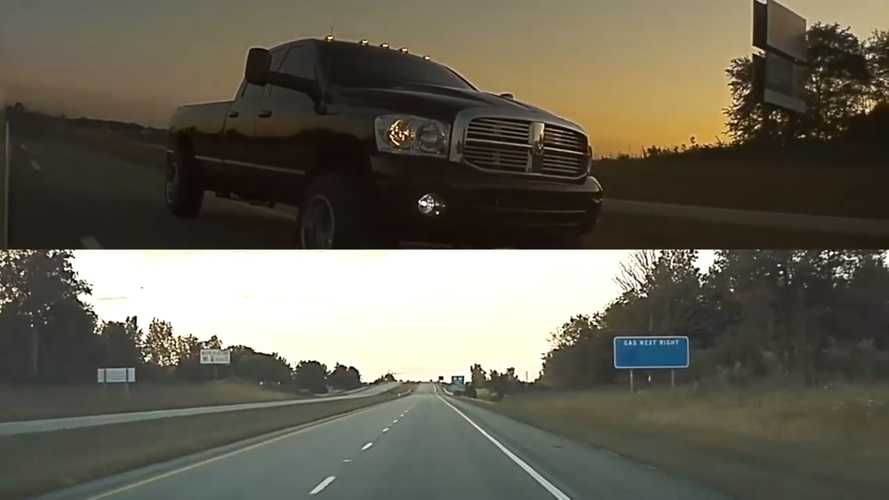 Watch This Tesla Put Coal-Rolling Ram In Rightful Place: Far Behind