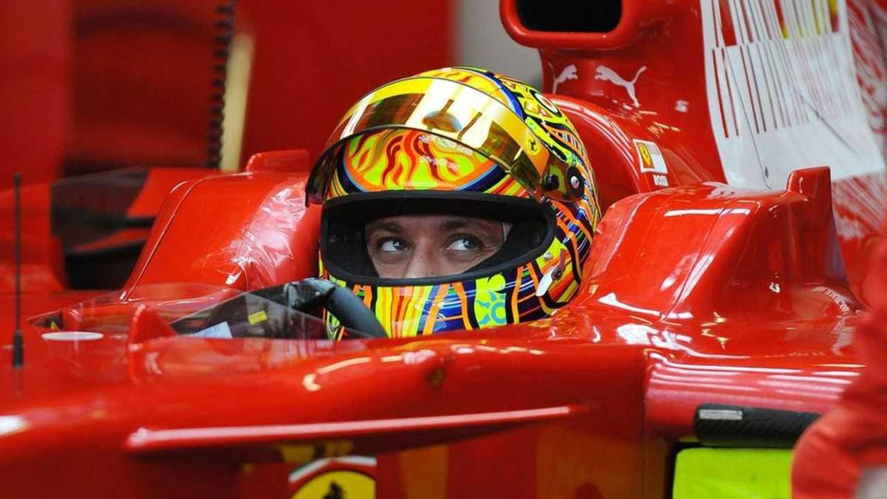 Valentino Rossi Testing for Scuderia Ferrari in 2008