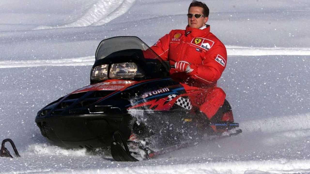 Michael Schumacher on a snow mobile, 10.11.2007