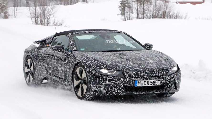 BMW i8 Spyder karda görüntülendi