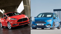 2018 Ford Fiesta ST vs. predecessor