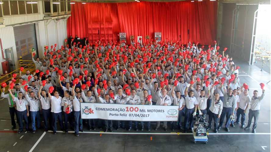 Toyota alcança 100 mil motores produzidos em Porto Feliz (SP)