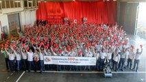 Celebração dos 100 mil motores Toyota
