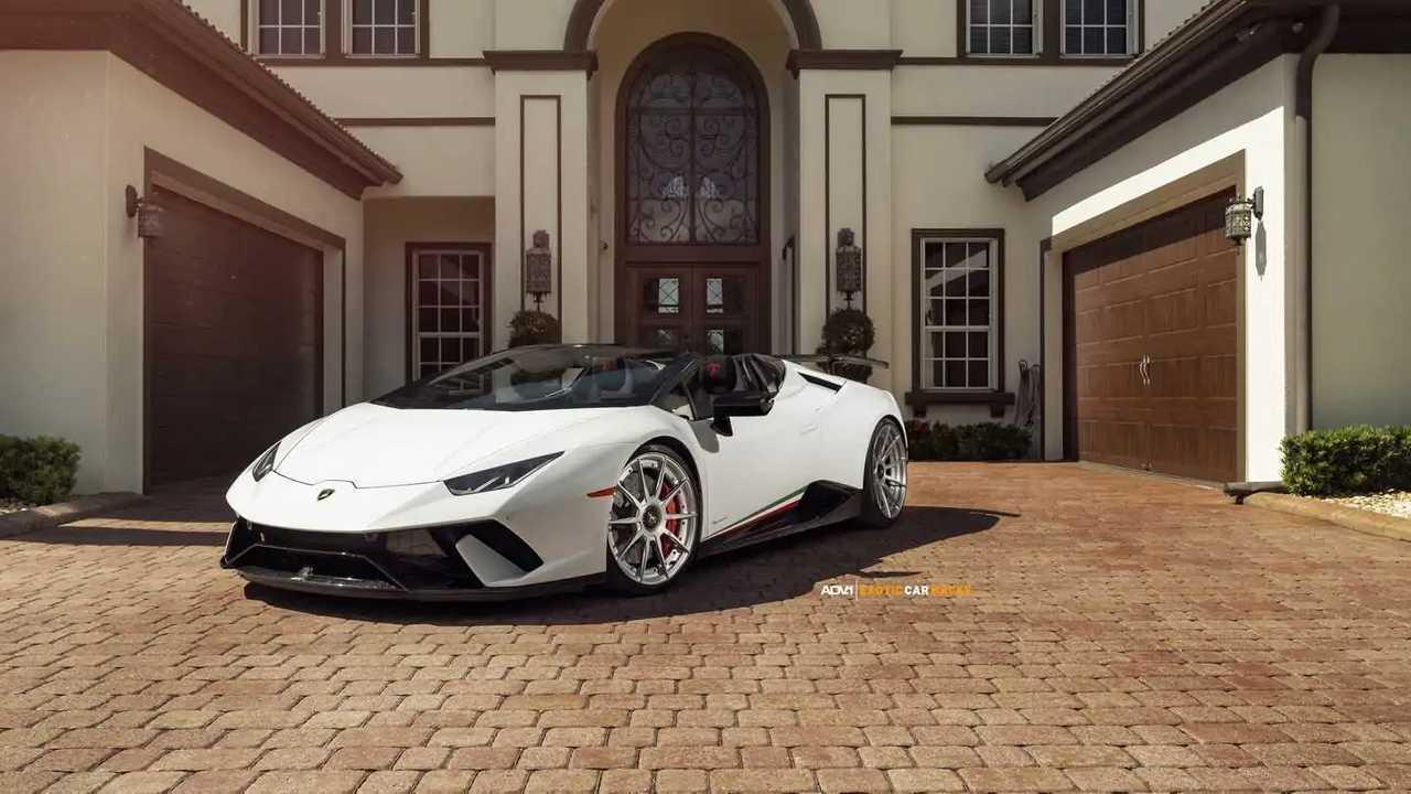 Lamborghini Huracan Performante Spyder on ADV.1 wheels