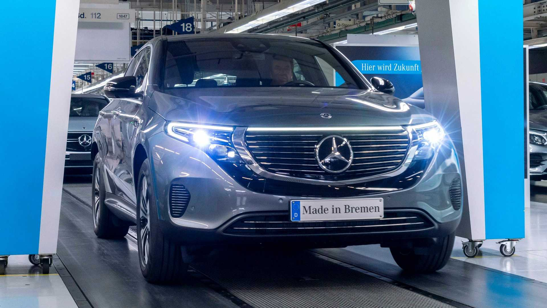 Mercedes Benz Germany >> Mercedes Kicks Off Production Of Eqc In Germany