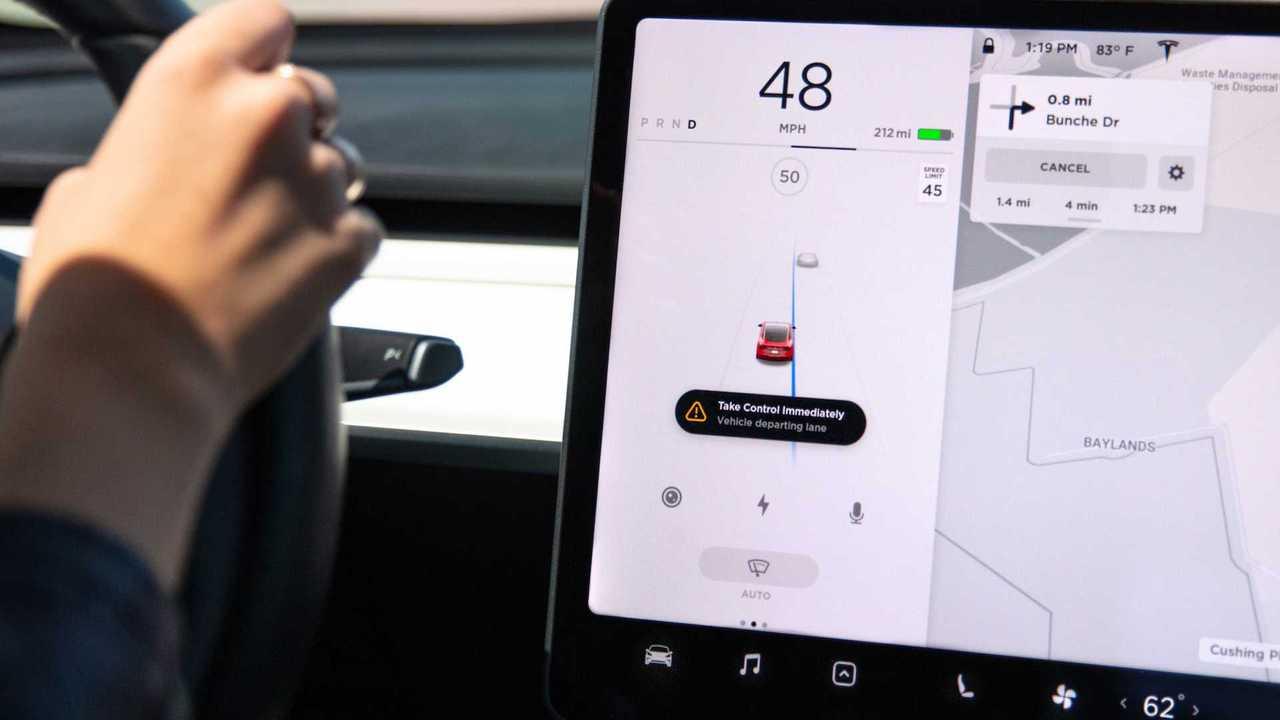 Tesla Lane Departure Avoidance