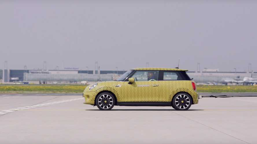 Watch Electric MINI Cooper SE Act As An Aircraft Tug: Video