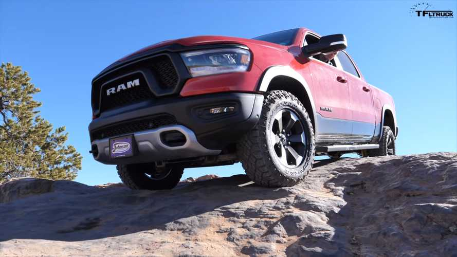 Ram Rebel Versus Power Wagon Drag Race