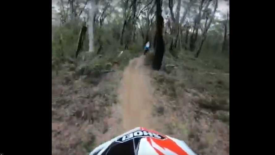 High-Pace Off-Road Ride Through The Woods Is Spectacular