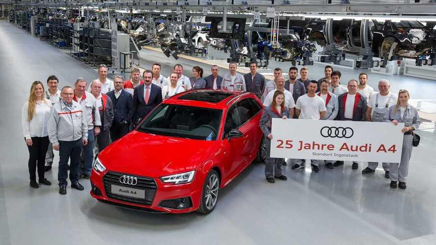 Audi A4 chega aos 25 anos com 7,5 milhões de unidades produzidas