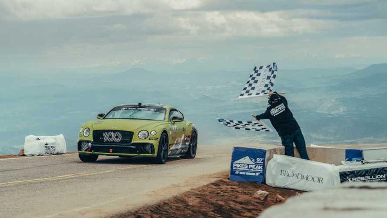 Bentley Continental GT Pikes Peak record