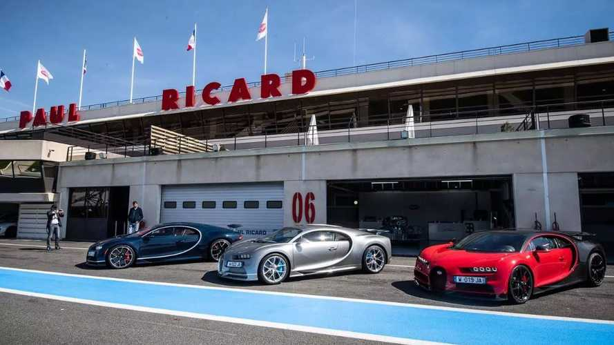 Bugatti Chiron, Chiron Sport hit the track in France