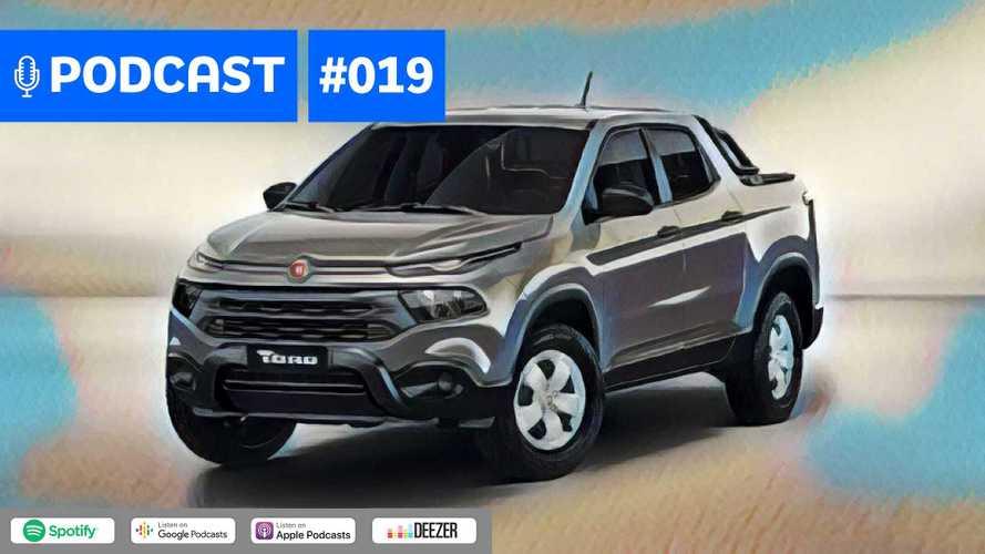 Motor1.com Podcast #19: Fiat Toro 2020 ganha versão manual e Fiesta se despede