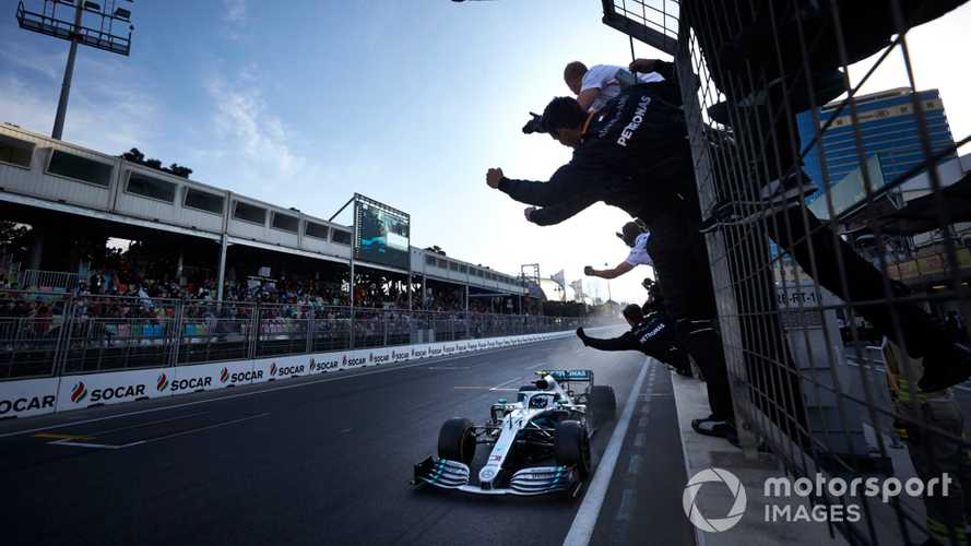 Valtteri Bottas winning the Azerbaijan GP 2019