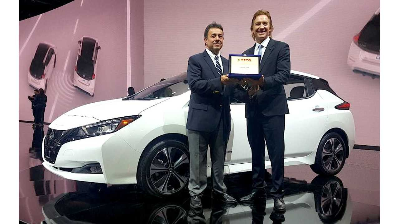 New 2018 Nissan LEAF Receives Green Car of The Year Award