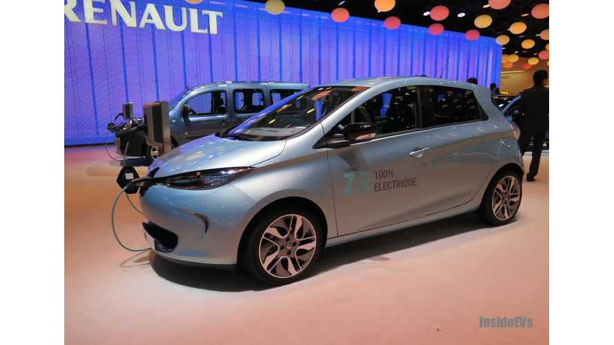 May 2014 Renault ZOE Sales In France Jump Again To 472