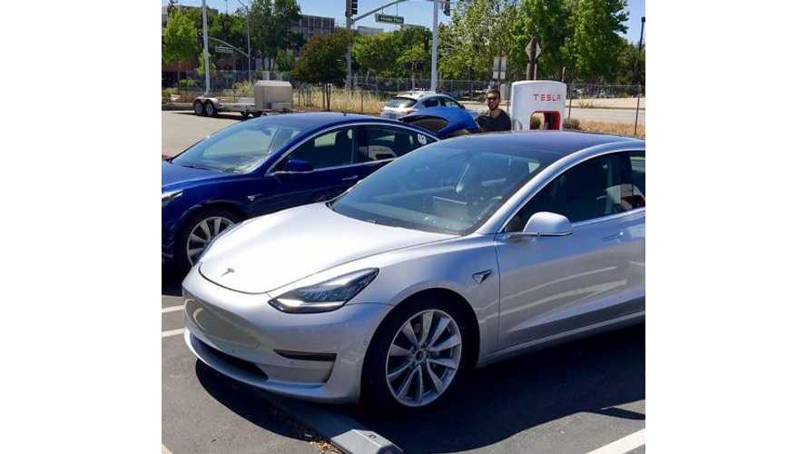 Rare Image Of Tesla Model 3 With Trunk Open