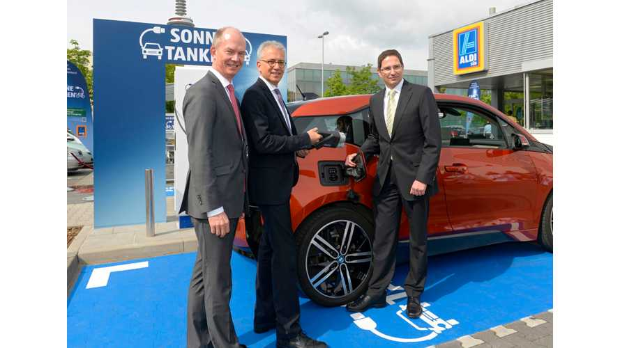 ALDI SÜD To Deploy 50 Solar-Powered Chargers In Germany