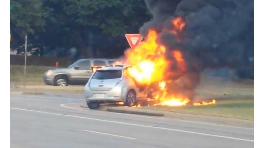 Nissan LEAF Fire In Flower Mound, Texas