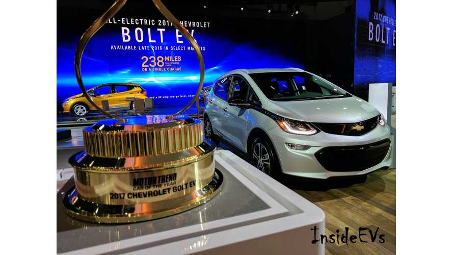 Chevrolet Bolt Expected To Take Home North American Car Of The Year Award