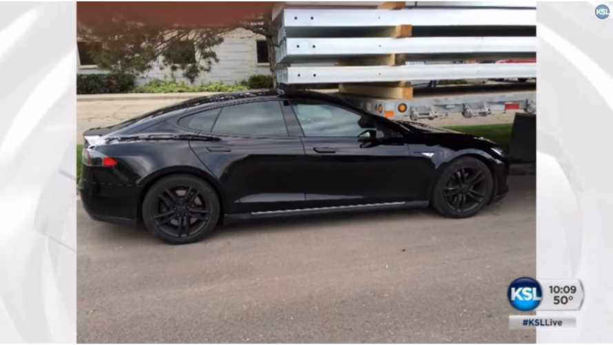 Tesla Model S Owner Says His Car Crashed Itself, Tesla Says Otherwise - Video