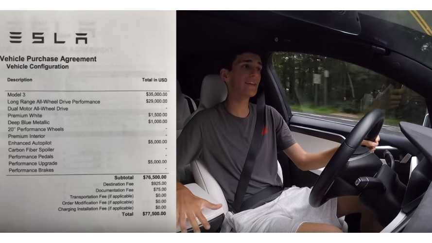 Ride Inside This $77,500 Tesla Model 3 Performance With White Interior