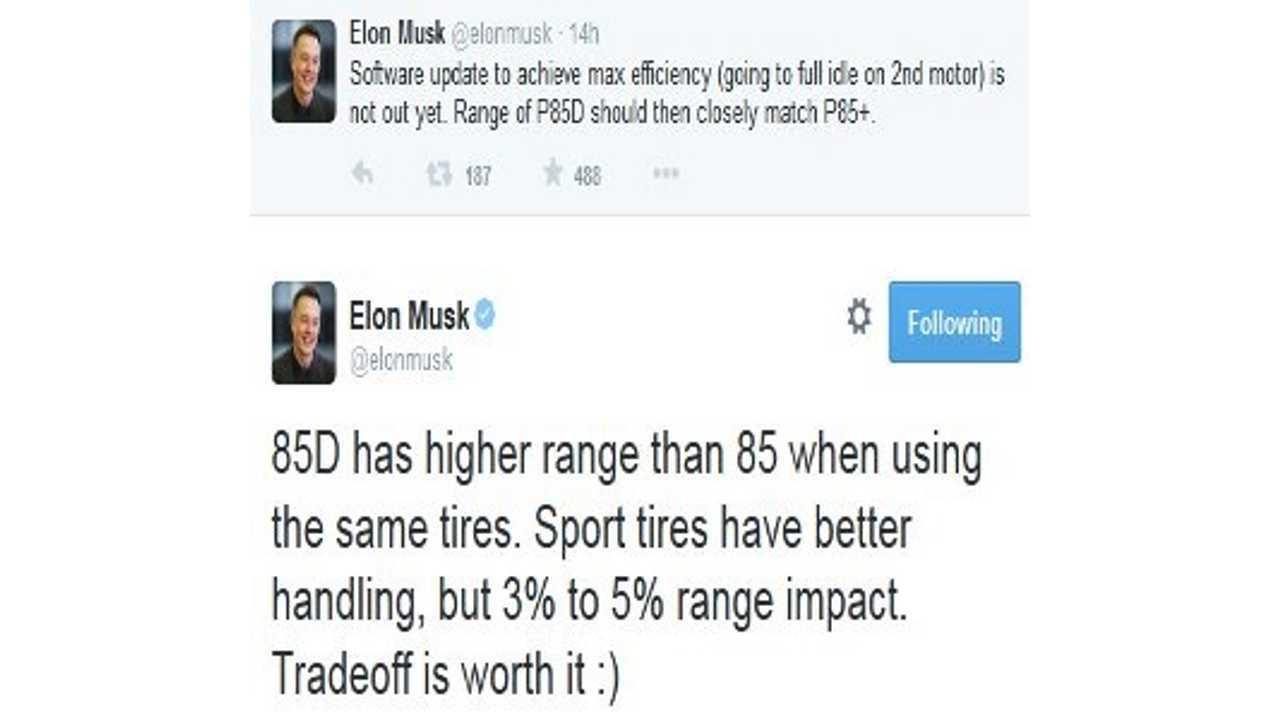 Elon Musk Tweets Then Deletes: 85D Actually Has Higher Range Than Model S 85