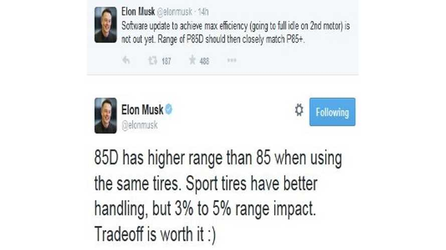 Elon Musk Tweets Then Deletes: 85D Actually Has Higher Range Than Model S 85