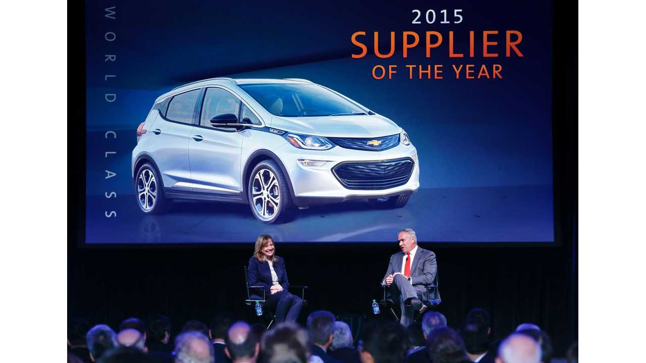 LG Chem Announced By GM As The 2015 Supplier Of The Year