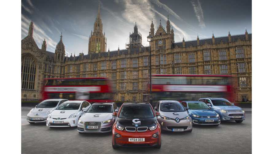 UK Extends Plug-In Car Grant Through February 2016