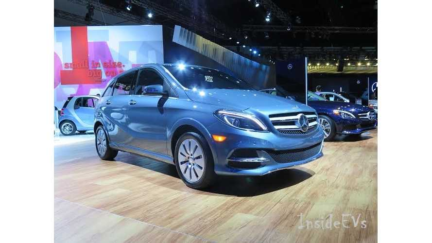 Mercedes-Benz B-Class Electric Drive - Live Images From 2014 LA Auto Show