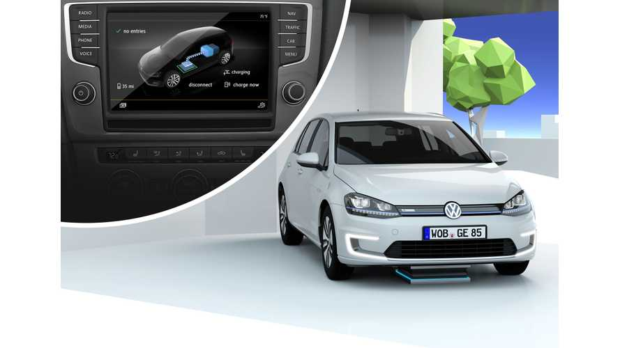 Volkswagen Demonstrates Inductive Charging & Self Parking With e-Golf