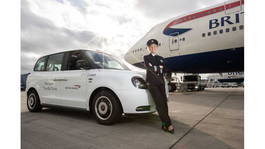 British Airways Introduces LEVC TX Plug-In Taxis At Heathrow