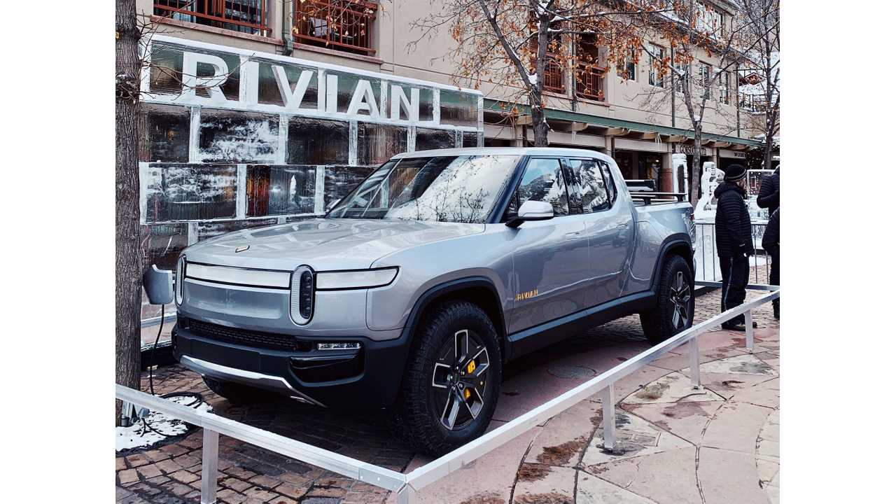 Rivian R1T Electric Pickup Truck Shows Up At X Games
