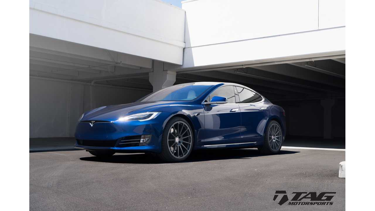Tesla Model S on HRE Classic 303M Wheels in Satin Charcoal Image 1